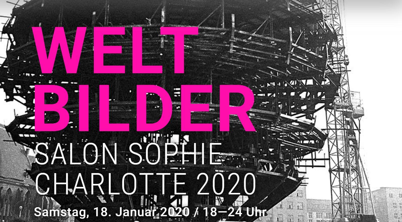 """Startseite zum """"Salon Sophie Charlotte"""" 2020, BBAW"""